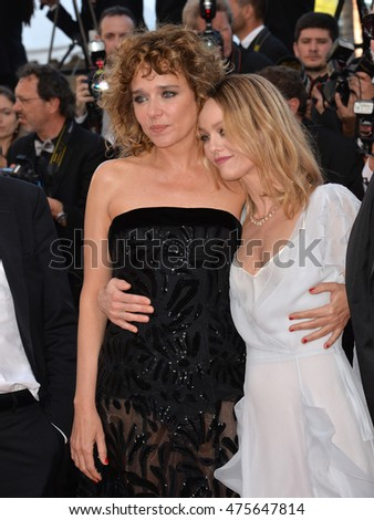 "CANNES, FRANCE - MAY 20, 2016: Actresses Valeria Golino & Vanessa Paradis at the gala premiere for ""The Last Face"" at the 69th Festival de Cannes."