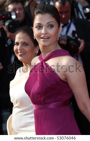 CANNES, FRANCE - MAY 14:  Aishwarya Rai Bachchan   attends the  'Wall Street: Money Never Sleeps' held at the Palais during the 63rd   Cannes Film Festival on May 14, 2010 in Cannes, France. - stock photo