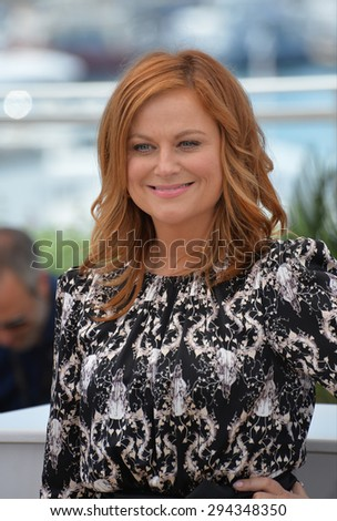 """CANNES, FRANCE - MAY 18, 2015: Amy Poehler at the photocall for her movie """"Inside Out"""" at the 68th Festival de Cannes. - stock photo"""