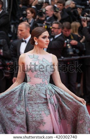 Cannes, France - 14 MAY 2016 - Araya Hargate attends 'The BFG (Le Bon Gros Geant - Le BGG)' premiere during the 69th annual Cannes Film Festival at the Palais des Festivals - stock photo
