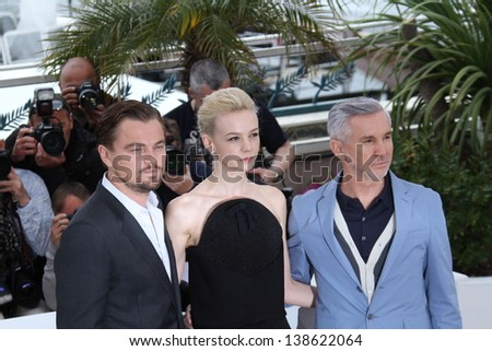 CANNES, FRANCE - MAY 15:  Baz Luhrmann, Carey Mulligan attend 'The Great Gatsby' photocall during the 66th Annual Cannes Film Festival at the Palais des Festivals on May 15, 2013 in Cannes, France. - stock photo
