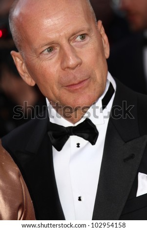 CANNES, FRANCE - MAY 16: Bruce Willis attends opening ceremony and 'Moonrise Kingdom' premiere during the 65th  Cannes Film Festival at Palais  on May 16, 2012 in Cannes, France. - stock photo