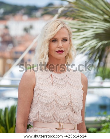 Cannes, France - 20 MAY 2016 - Cannes, France - 20 MAY 2016 - Charlize Theron attends the 'The Last Face' Photocall at the annual 69th Cannes Film Festival - stock photo