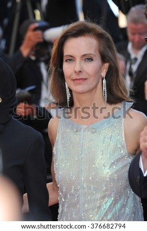 CANNES, FRANCE - MAY 24, 2014: Carole Bouquet at the gala awards ceremony at the 67th Festival de Cannes. - stock photo