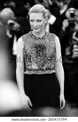 CANNES, FRANCE - MAY 16: Cate Blanchett attends the 'Dragon 2' Premiere during the 67th Cannes Film Festival on May 16, 2014 in Cannes, France. - stock photo