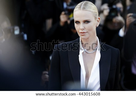 CANNES, FRANCE - MAY 20: Charlize Theron attends 'The Last Face' Premiere during the 69th Cannes Film Festival on May 20, 2016 in Cannes, France.  - stock photo