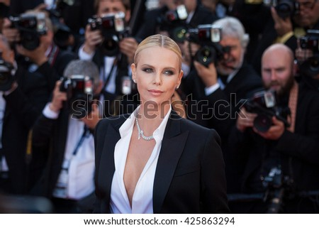 Cannes, France - 20 MAY 2016 - Charlize Theron attends the screening of 'The Last Face' at the annual 69th Cannes Film Festival - stock photo