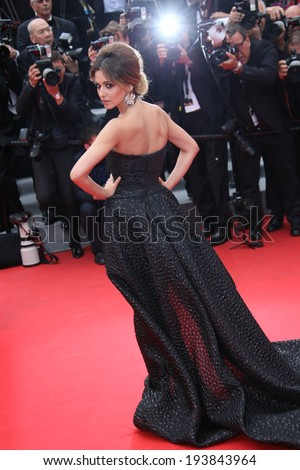 CANNES, FRANCE - MAY 19: Cheryl Cole attends the 'Foxcatcher' Premiere at the 67th Annual Cannes  Festival on May 19, 2014 in Cannes, France - stock photo