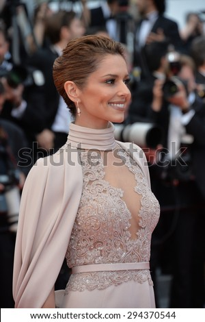 """CANNES, FRANCE - MAY 15, 2015: Cheryl Fernandez-Versini (Cheryl Cole) at the gala premiere for """"Irrational Man"""" at the 68th Festival de Cannes. - stock photo"""