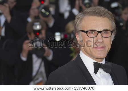 CANNES, FRANCE - MAY 21: Christoph Waltz attends 'Behind The Candelabra' Premiere during The 66th Annual Cannes Film Festival on May 21, 2013 in Cannes, France.