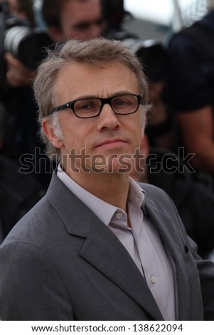 CANNES, FRANCE - MAY 15: Christoph Waltz attends the Jury Photocall during the 66th Annual Cannes Film Festival at the Palais des Festivals on May 15, 2013 in Cannes, France. - stock photo