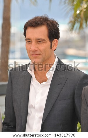 "CANNES, FRANCE - MAY 20, 2013: Clive Owen at the photocall for his movie ""Blood Ties"" at the 66th Festival de Cannes."