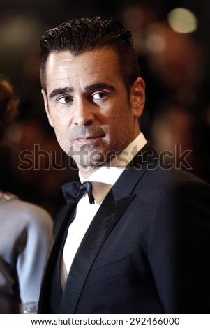 CANNES, FRANCE- MAY 15: Colin Farrell attends 'The Lobster' premiere during the 68th Cannes Film Festival on May 15, 2015 in Cannes, France.
