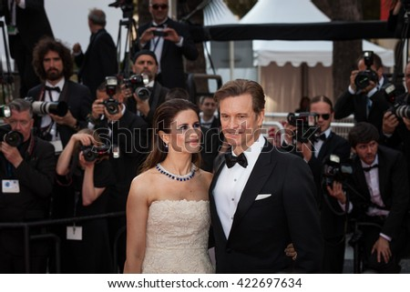 Cannes, France - 16 MAY 2016 - Colin Firth and his wife Livia Firth attend the 'Loving' Premiere at the annual 69th Cannes Film Festival