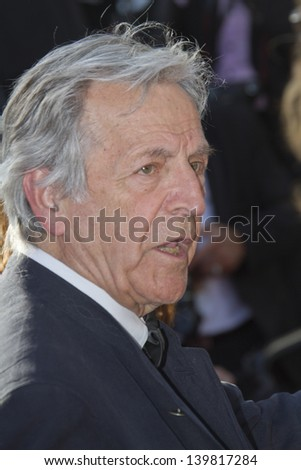 CANNES, FRANCE - MAY 23: Costa-Gavras attends the 'Nebraska' premiere during The 66th Cannes Film Festival at the Palais des Festival on May 23, 2013 in Cannes, France. - stock photo
