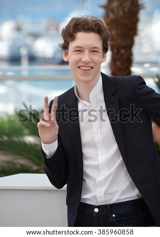 "CANNES, FRANCE - MAY 18, 2015: Devin Druid at the photocall for his movie ""Louder Than Bombs"" at the 68th Festival de Cannes."