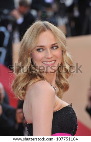 CANNES, FRANCE - MAY 23, 2010: Diane Kruger at the closing Awards Gala at the 63rd Festival de Cannes.