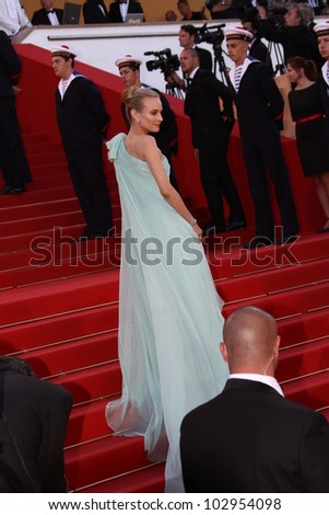 CANNES, FRANCE - MAY 16: Diane Kruger attends opening ceremony and 'Moonrise Kingdom' premiere during the 65th  Cannes Film Festival at Palais  on May 16, 2012 in Cannes, France.