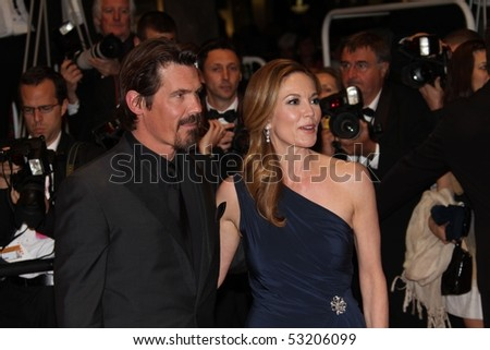 CANNES, FRANCE - MAY 15: Diane Lane and Josh Brolin attend the  Premiere held at the Palais des Festivals during the 63 Cannes Film Festival on May 15, 2010 in Cannes, France.