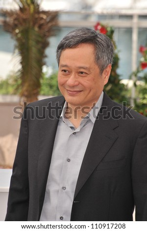 "CANNES, FRANCE - MAY 16, 2009: Director Ang Lee at the photocall for his new movie ""Taking Woodstock"""