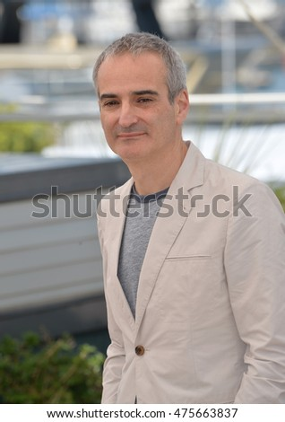 "CANNES, FRANCE - MAY 16, 2016: Director Olivier Assayas at the photocall for ""Personal Shopper"" at the 69th Festival de Cannes."