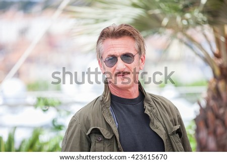 Cannes, France - 20 MAY 2016 - Director Sean Penn attends 'The Last Face' Photocall during the 69th annual Cannes Film Festival - stock photo