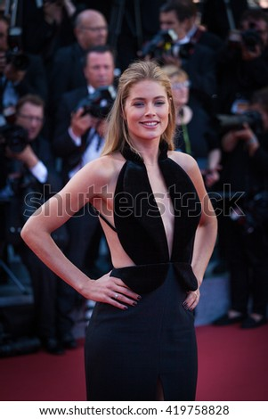 Cannes, France - 11 MAY 2016 - Doutzen Kroes attends the screening of 'Cafe Society' at the opening gala of the annual 69th Cannes Film Festival at Palais des Festivals - stock photo