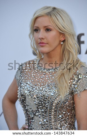 CANNES, FRANCE - MAY 23, 2013: Ellie Goulding at amfAR's 20th Cinema Against AIDS Gala at the Hotel du Cap d'Antibes, France  - stock photo