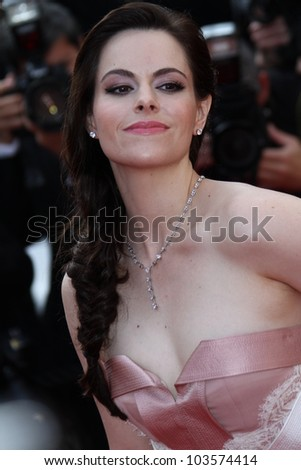CANNES, FRANCE - MAY 26: Emily Hampshire attends the 'Mud' Premiere during the 65th Annual Cannes Film Festival at Palais des Festivals on May 26, 2012 in Cannes, France. - stock photo