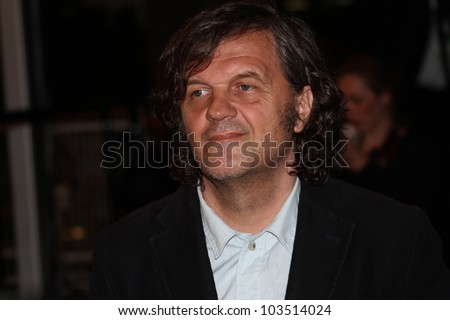 CANNES, FRANCE - MAY 23: Emir Kusturica attends the 'Holy Motors' Premiere during the 65th Annual Cannes Film Festival at Palais des Festivals on May 23, 2012 in Cannes, France. - stock photo