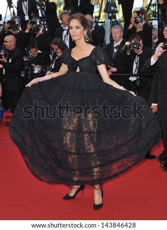 "CANNES, FRANCE - MAY 23, 2013: Eugenia Silva at the premiere of ""The Immigrant"" at the 66th Festival de Cannes.  - stock photo"