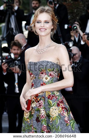 CANNES, FRANCE - MAY 20: Eva Herzigova attends the 'Two Days, One Night' premiere during the 67th Cannes Film Festival on May 20, 2014 in Cannes, France. - stock photo