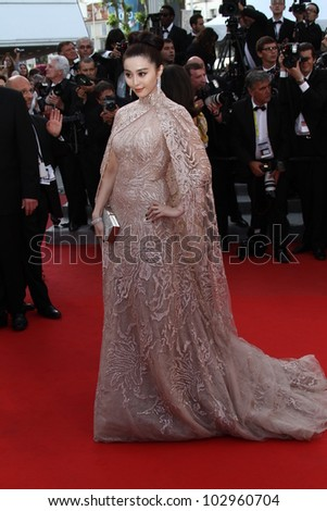 CANNES, FRANCE - MAY 17: Fan Bingbing attends the 'De Rouille et D'os' Premiere during the 65th Annual Cannes Film Festival at Palais des Festivals on May 17, 2012 in Cannes, France. - stock photo