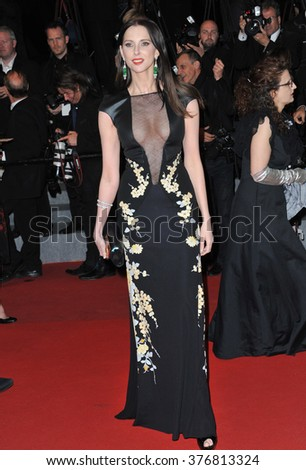 "CANNES, FRANCE - MAY 19, 2014: Frederique Bel at the gala premiere of ""Maps to the Stars"" at the 67th Festival de Cannes."