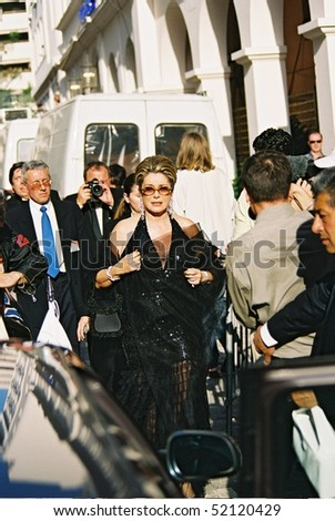 CANNES, FRANCE - MAY 17: French actress Catherine Deneuve attend the Cannes Film Festival on May 17, 2000 in Cannes, France - stock photo