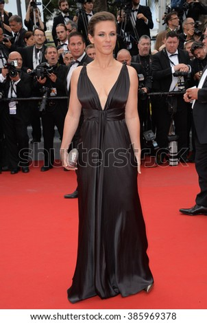 "CANNES, FRANCE - MAY 15, 2015: French singer Lorie at the gala premiere for ""Irrational Man"" at the 68th Festival de Cannes."