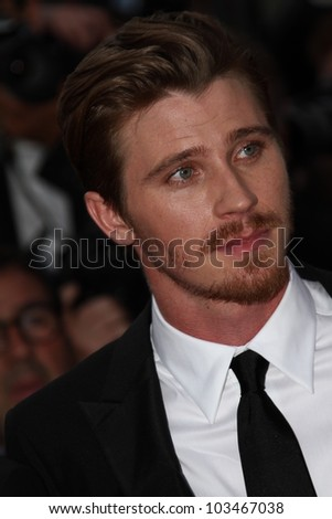 CANNES, FRANCE - MAY 23:  Garret Hedlund attends the 'On The Road' Premiere during the 65th Cannes Film Festival at Palais des Festivals on May 23, 2012 in Cannes, France. - stock photo