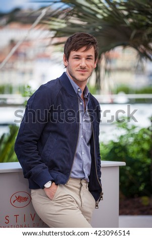 Cannes, France - 19 MAY 2016 - Gaspard Ulliel attends the 'It's Only The End Of The World (Juste La Fin Du Monde)' Photocall during the 69th annual Cannes Film Festival - stock photo