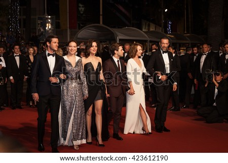 Cannes, France - 19 MAY 2016 - Gaspard Ulliel, Lea Seydoux, Xavier Dolan, Marion Cotillard, Nathalie Baye and Vincent Cassel attend 'It's Only The End Of The World (Juste La Fin Du Monde)' Premiere