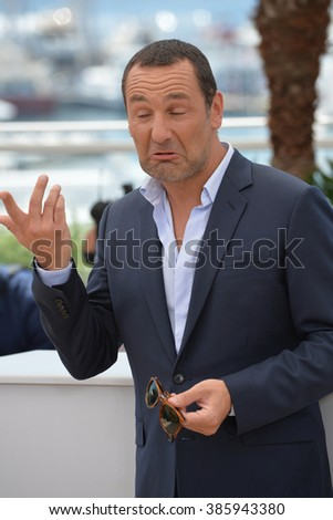 "CANNES, FRANCE - MAY 18, 2015: Gilles Lellouche at the photocall for his movie ""Inside Out"" at the 68th Festival de Cannes."