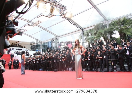 CANNES, FRANCE - MAY 19:  Guest attends the 'Sicario' premiere during the 68th annual Cannes Film Festival on May 19, 2015 in Cannes, France - stock photo