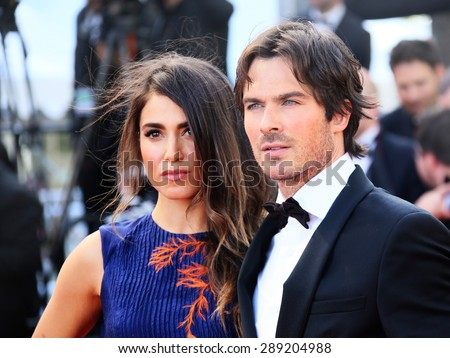 CANNES, FRANCE - MAY 20, 2015: Ian Sonerhalder and Nikki Reed attend the 'Youth' Premiere during the 68th annual Cannes Film Festival on May 20, 2015 in Cannes, France.