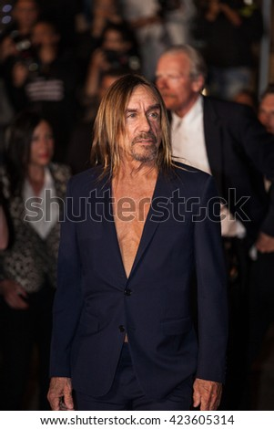 Cannes, France - 19 MAY 2016 - Iggy Pop attends the screening of 'Gimme Danger' at the annual 69th Cannes Film Festival - stock photo