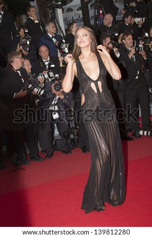 CANNES, FRANCE - MAY 22: Irina Shayk attends the Premiere of 'All Is Lost' during The 66th Cannes Film Festival at the Palais des Festivals on May 22, 2013 in Cannes, France. - stock photo