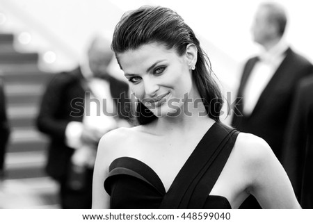 CANNES, FRANCE - MAY 18: Isabeli Fontana attends 'The Unknown Girl' Premiere during the 69th Cannes Film Festival on May 18, 2016 in Cannes - stock photo