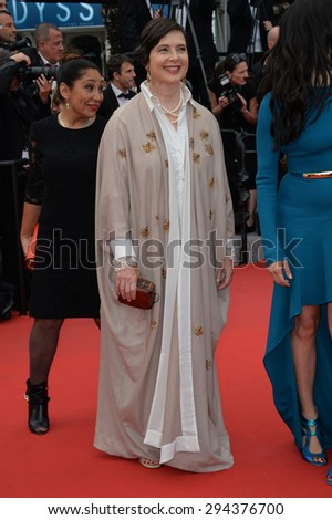"CANNES, FRANCE - MAY 14, 2015: Isabella Rossellini at the gala premiere of ""Mad Max: Fury Road"" at the 68th Festival de Cannes."
