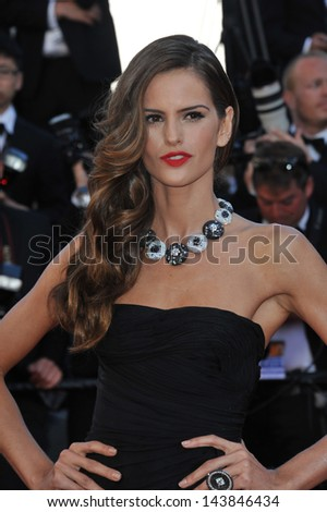 "CANNES, FRANCE - MAY 23, 2013: Izabel Goulart at the premiere of ""The Immigrant"" at the 66th Festival de Cannes.  - stock photo"