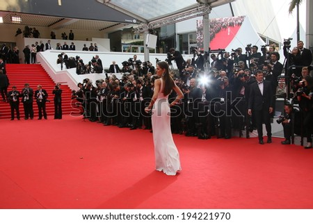 CANNES, FRANCE - MAY 21: Izabel Goulart attends the 'The Search' Premiere at the 67th Annual Cannes Film Festival on May 21, 2014 in Cannes, France. - stock photo