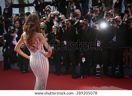CANNES, FRANCE - MAY 20, 2015:  Izabel Goulart attends the 'Youth' Premiere during the 68th annual Cannes Film Festival on May 20, 2015 in Cannes, France. - stock photo