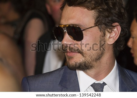 CANNES, FRANCE - MAY 19: James Franco attends the 'Borgman' Premiere during the 66th Annual Cannes Film Festival at the Palais des Festivals on May 19, 2013 in Cannes, France. - stock photo